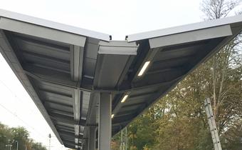Bahnsteigdachsystem Typ Bodenheim light von Hering