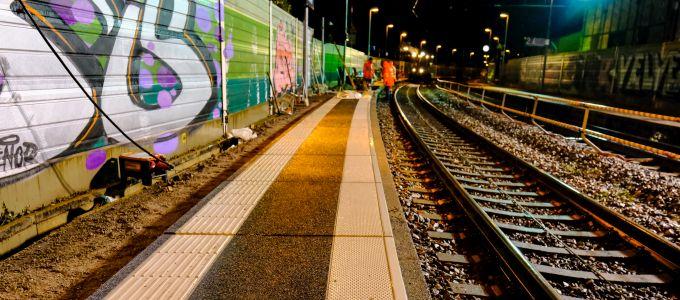 Sofortmaßnahme im Bahnhof Rheinweiler (Foto: Volker Wenk)