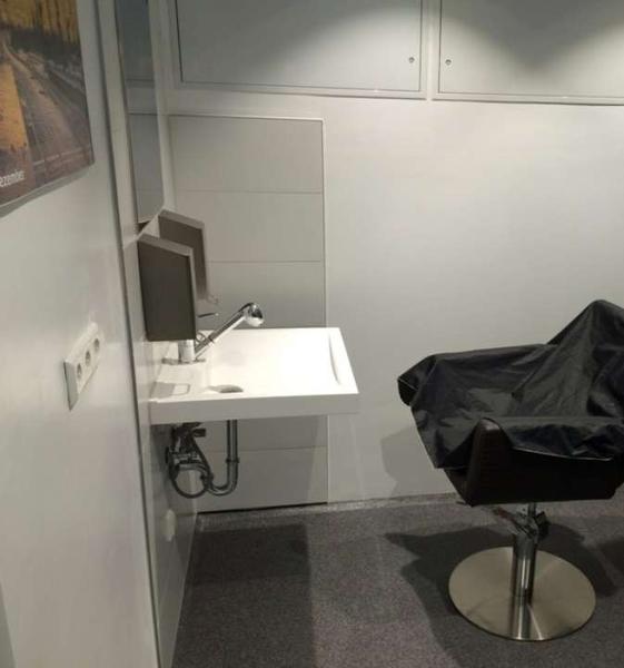 hygiene center wc anlage inkl duschen und waschmaschinen. Black Bedroom Furniture Sets. Home Design Ideas