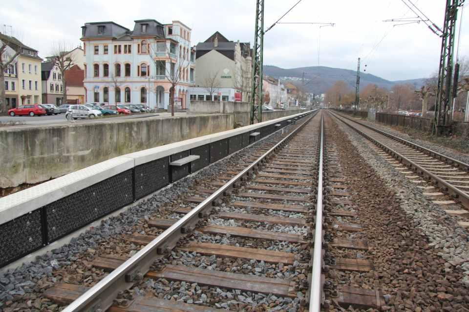 Niedrige Schallschutzwand (nSSW) in Bingen