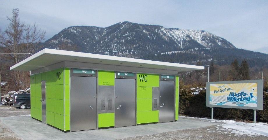 Aseos públicos automáticos en Garmisch-Partenkirchen